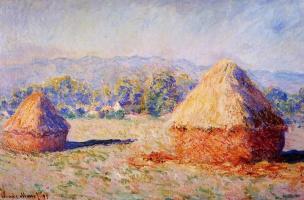 Claude Monet. Haystacks in the sunlight, morning effect