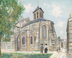 Морис Утрилло. Церковь Сен-Пьер на Монмартре
