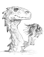 Кит Паркинсон. Голова дракона и девушка