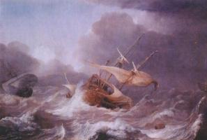 Юлиус Поркеллис. Голландские корабли в шторм