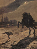 "The frontispiece to the poem of A. S. Pushkin ""the bronze Horseman"""