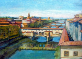 Olga Ogloblina. Florence. Ponte Vecchio (Old bridge)
