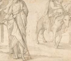 Джованни Бальоне (Баглионе). Святое семейство. Возвращение из Египта. Эскиз II