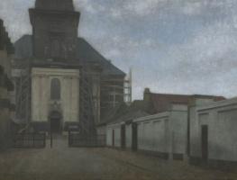 Вильгельм Хаммерсхёй. Христианская церковь на Страндгед