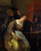 Ян Стен. Мужчины и пьяная женщина