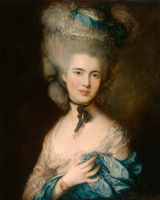 Thomas Gainsborough. Portrait of a lady in blue
