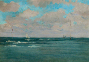 James Abbot McNeill Whistler. The Bathing Posts, Brittany