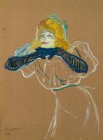"""Henri de Toulouse-Lautrec. Yvette Guilbert Singing """"Linger Longer Loo"""""""