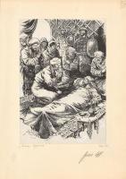 """Аркадий Александрович Лурье. Иллюстрация к книге Еремея Парнова """"Драконы Грома"""" 1970-е"""