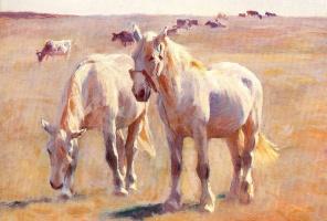 Майкл Зеркилдсен. Лошади и крупный рогатый скот на пастбищах