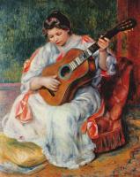 Пьер Огюст Ренуар. Женщина, играющая на гитаре