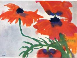 Эмиль Нольде. Красные цветы
