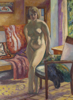 Henri Manguin. Nude standing against the light