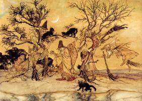 Артур Рэкхэм. Коты на дереве
