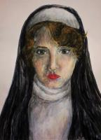 Зина Владимировна Парижева. Автопортрет в образе монахини