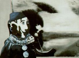 """Сальвадор Дали. Клоун для """"Удивительных приключений кружевницы и носорога"""""""