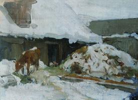 Алексей Степанович Степанов. Этюд с коровой