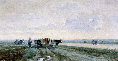 Виллем Рулофс. Пастух возле канала