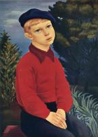 Моисей Кислинг. Мальчик в кепке
