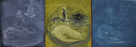"""Elena Babinets. Triptych """"still life in the style of Andy Warhol"""""""