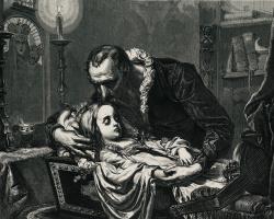 Ян Матейко. Ян Кохановский над телом дочери Урсулы