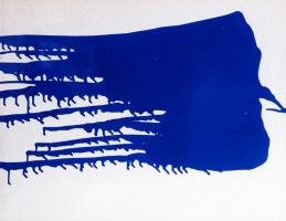 Yves Klein. Monochrome blue 14