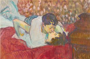 Henri de Toulouse-Lautrec. In Bed, the Kiss