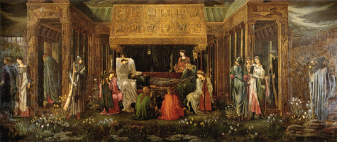 Edward Coley Burne-Jones. King Arthur's Last Dream in Avalon