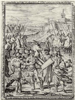 """Бернардо Кастелло. Иллюстрация к поэме Торквато Тассо """"Освобожденный Иерусалим"""", Аргант и Танкред готовятся к поединку"""