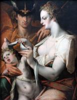 Бартоломеус Спрангер. Венера и Меркурий завязывают глаза Купидону
