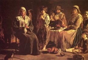 Братья Найн. Крестьянская семья в интерьере