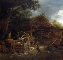 Ван Остаде Йсакк. Скотный двор