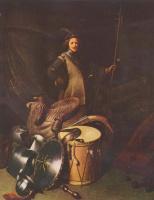 Герард Доу. Портрет офицера лейденской стрелковой гильдии