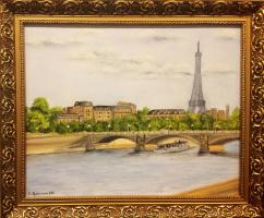Ольга Болеславовна Горпинченко. Paris. Seine Embankment.