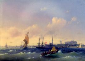 Иван Константинович Айвазовский. Вид на Ревель (Море)