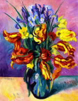 Henri Manguin. Variegated tulips