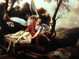 Лоран де Ла Хайр. Авраам приносит в жертву Исаака