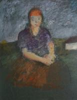 Артур Владимирович Фонвизин. Женский портрет. 1920-е