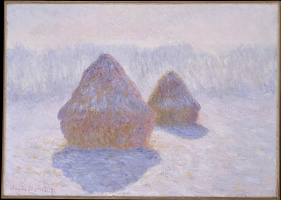 Haystacks. The effect of frost