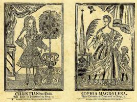 Йохан Йорген Хёпфнер. Король Кристиан VI и королева София Магдалена Датские