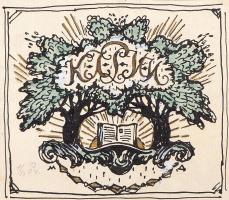 Эскиз обложки. Устава. Кружка любителей изящных изданий. 1904  золотая краска. 8,5 х 9,8