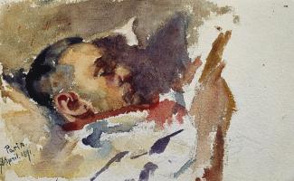 Giovanni Giacometti. Kuno, Amie reading, Paris