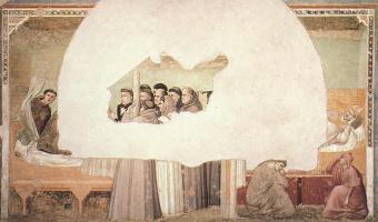 Джотто ди Бондоне. Видение вознесения Святого Франциска