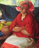 Abram Arkhipov. The girl in the red