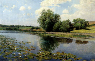 Ilya Semenovich Ostroukhov. The river in the afternoon