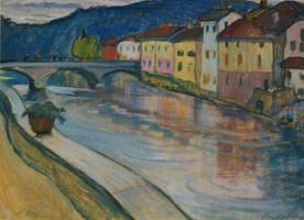 Ольга Людвиговна Делла-Вос-Кардовская. «Мост в Швейцарии» 1912