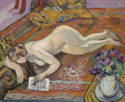 Henri Manguin. Nude on the carpet