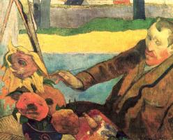 Поль Гоген. Портрет Винсента ван Гога, рисующего подсолнухи