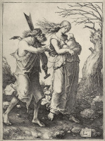 Лукас ван Лейден (Лука Лейденский). Адам и Ева после изгнания из Рая