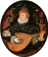 Николас Хиллиард. Королева Елизавета I, играющая на лютне